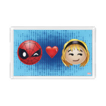 Spider-Man & Gwen Heart Emoji Acrylic Tray