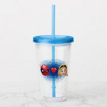 Spider-Man & Gwen Heart Emoji Acrylic Tumbler