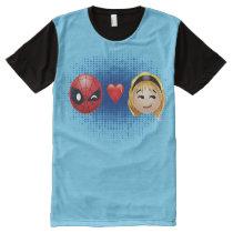 Spider-Man & Gwen Heart Emoji All-Over-Print T-Shirt