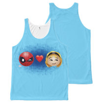 Spider-Man & Gwen Heart Emoji All-Over-Print Tank Top
