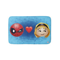 Spider-Man & Gwen Heart Emoji Bathroom Mat