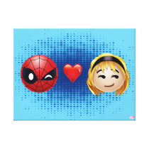 Spider-Man & Gwen Heart Emoji Canvas Print