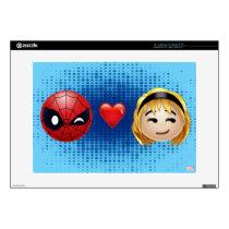 Spider-Man & Gwen Heart Emoji Decals For Laptops