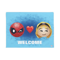 Spider-Man & Gwen Heart Emoji Doormat