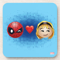 Spider-Man & Gwen Heart Emoji Drink Coaster