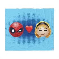 Spider-Man & Gwen Heart Emoji Fleece Blanket