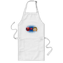 Spider-Man & Gwen Heart Emoji Long Apron