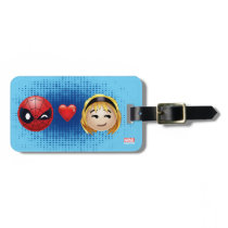 Spider-Man & Gwen Heart Emoji Luggage Tag