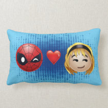 Spider-Man & Gwen Heart Emoji Lumbar Pillow