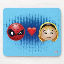 Spider-Man & Gwen Heart Emoji Mouse Pad
