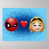 Spider-Man & Gwen Heart Emoji Poster