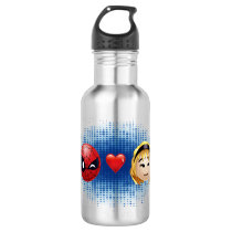 Spider-Man & Gwen Heart Emoji Stainless Steel Water Bottle