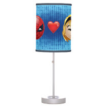 Spider-Man & Gwen Heart Emoji Table Lamp