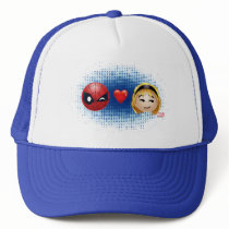 Spider-Man & Gwen Heart Emoji Trucker Hat