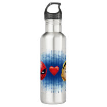 Spider-Man & Gwen Heart Emoji Water Bottle