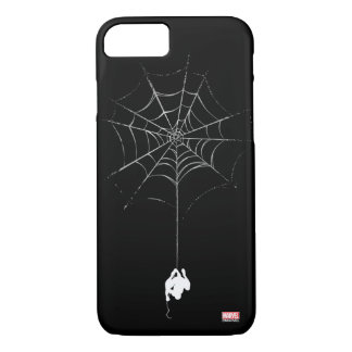 Spider-Man Hanging From Web Silhouette iPhone 7 Case