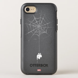 Spider-Man Hanging From Web Silhouette OtterBox Symmetry iPhone 7 Case