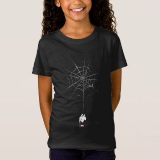 Spider-Man Hanging From Web Silhouette T-Shirt