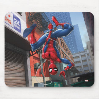 Spider-Man | Hanging Upside-Down From Web Mouse Pad