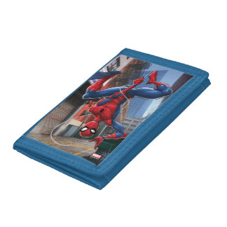 Spider-Man   Hanging Upside-Down From Web Trifold Wallet