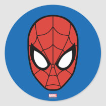 Spider-Man Head Icon Classic Round Sticker
