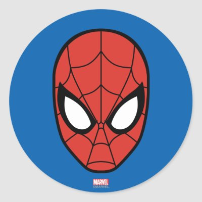 Spider man eyes classic round sticker zazzle com