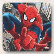 Spider-Man High Above the City Beverage Coaster