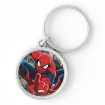 Spider-Man High Above the City Keychain
