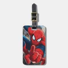 Spider-man High Above The City Luggage Tag at Zazzle