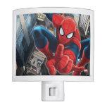 Spider-Man High Above the City Night Light