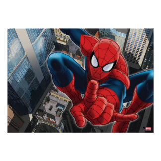 Spider-Man High Above the City Poster