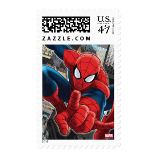 Spider-Man High Above the City Stamp