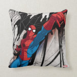 Spider-Man In Abstract City Throw Pillow