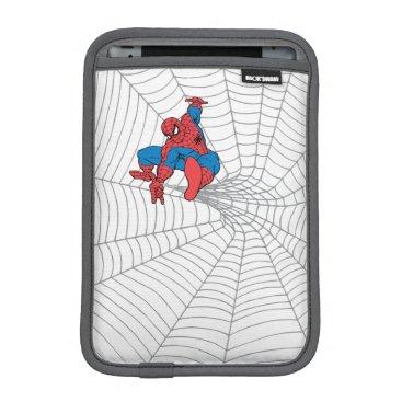 Spider-Man in Center of Web iPad Mini Sleeve