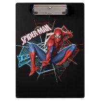 Spider-Man in Fractured Web Graphic Clipboard