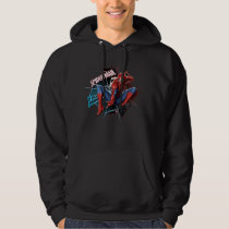 Spider-Man in Fractured Web Graphic Hoodie