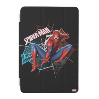 Spider-Man in Fractured Web Graphic iPad Mini Cover