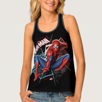 Spider-Man in Fractured Web Graphic Tank Top