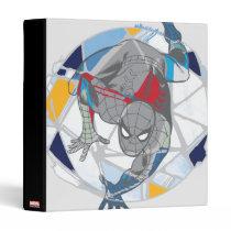 Spider-Man In Kaleidoscope Web 3 Ring Binder