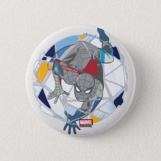 Spider-Man In Kaleidoscope Web Button