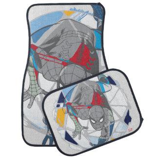 Spider-Man In Kaleidoscope Web Car Mat