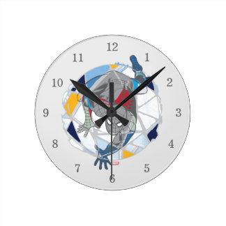 Spider-Man In Kaleidoscope Web Round Clock
