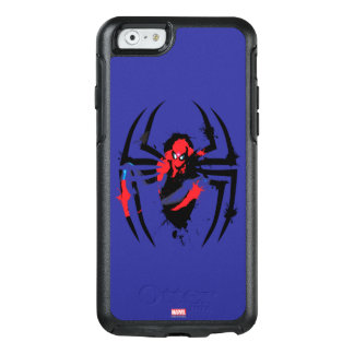 Spider-Man in Spider Shaped Ink Splatter OtterBox iPhone 6/6s Case