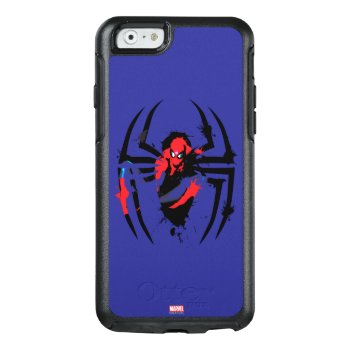 Spider-man In Spider Shaped Ink Splatter Otterbox Iphone 6/6s Case by spidermanclassics at Zazzle