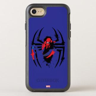 Spider-Man in Spider Shaped Ink Splatter OtterBox Symmetry iPhone 7 Case