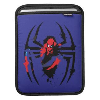 Spider-Man in Spider Shaped Ink Splatter Sleeve For iPads