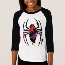Spider-Man in Spider Shaped Ink Splatter T-Shirt