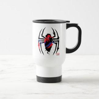 Spider-Man in Spider Shaped Ink Splatter Travel Mug