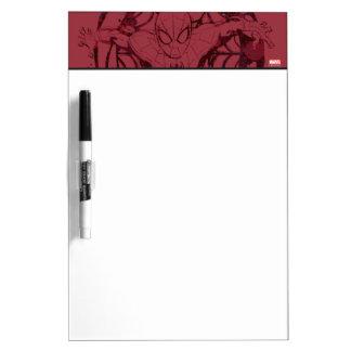 Spider-Man In Web Graphic Dry Erase Board