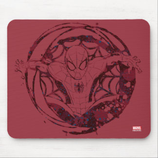 Spider-Man In Web Graphic Mouse Pad